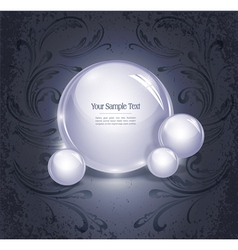 glowing orb vector image vector image