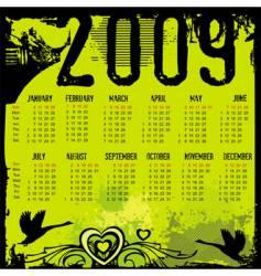 grunge calendar vector image vector image