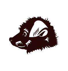 happy puppy abstract dog logo design vector image