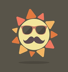 Hipster summer sun vector image vector image