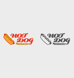 Hot dog label concept best in town hot dog vector