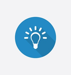 idea Flat Blue Simple Icon with long shadow vector image vector image