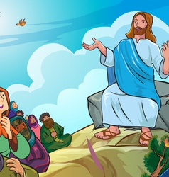 Jesus give lecture vector