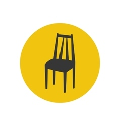 Kitchen chair silhouette vector image
