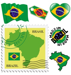 national colours of Brazil vector image vector image