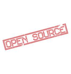 Open source rubber stamp vector