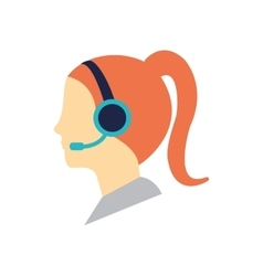 Operator assistant woman icon vector