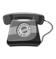 Retro phone icon gray monochrome style vector