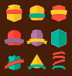 set of the badges in flat style vector image vector image