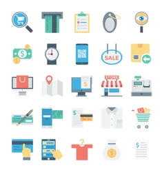Shopping and E Commerce Colored Icons 4 vector image vector image