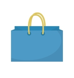 Shopping bag icon flat style Paper bags isolated vector image vector image