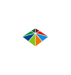square triangle colorful construction logo vector image vector image