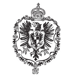 The great seal germany - empire is a european vector
