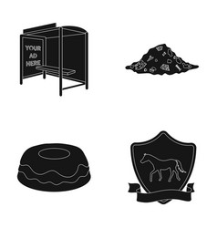 Transport ecology and or web icon in black style vector