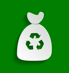 Trash bag icon paper whitish icon with vector