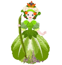 Vegetable queen vector