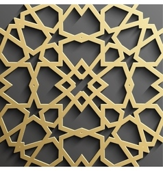 Seamless islamic pattern 3d  traditional arabic vector