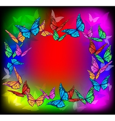 Bright butterfly frame vector image