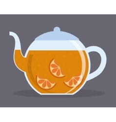 Kettle of tea drink design vector