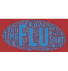 The flu shot or not text background wordcloud vector