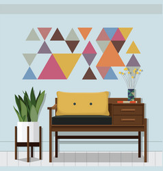 living room inspiration vector image