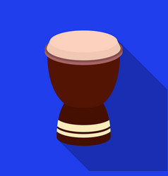 Goblet drum icon in flate style isolated on white vector