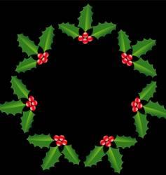 holly circle vector image