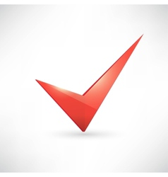 Isolated red check mark vector