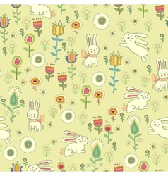 Bright childish seamless pattern with animals vector