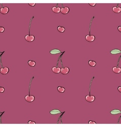 Cherries - seamless pattern vector