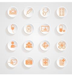 Medical Icons button shadows set vector image