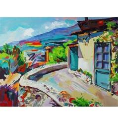 original art composition of summer landscape vector image