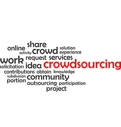 Word cloud crowdsourcing vector