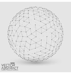 Abstract grayscale sphere  futuristic vector