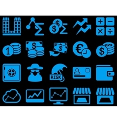 Accounting service and trade business icon set vector