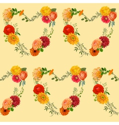 Vintage colorful floral background vector