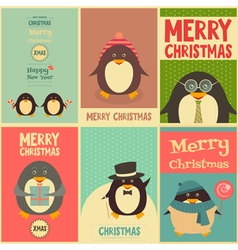Cute penguins vector