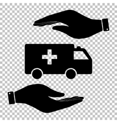 Ambulance sign flat style icon vector