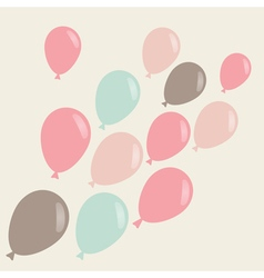 Simple background with flying ballons vector