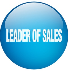 Leader of sales blue round gel isolated push vector