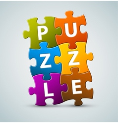 Puzzle lettering vector