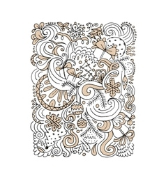 Abstract christmas pattern sketch for your design vector image vector image