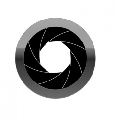aperture vector image vector image