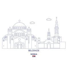 Belgrade linear city skyline vector