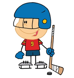 Boy Playing Hockey Goalie vector image