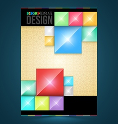 Brochure cover design rectangles Templates vector image vector image