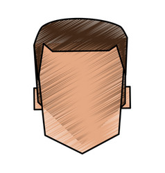 Color pencil image faceless front view man with vector