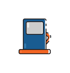 flat color gas pump icon vector image vector image