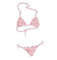 Floral bikini vector