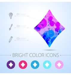 Game rhombus icon with infographic vector